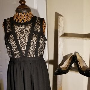 Beautiful black and cream dress